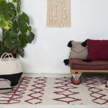 Bereber Washable Rug - Burgundy - 140x200cm