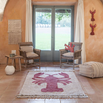 Lobster Washable Rug - 140x200cm