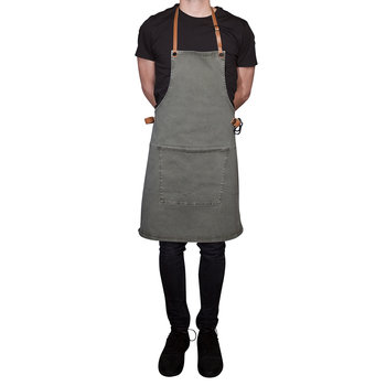 BBQ Style Canvas Apron - Gray Green