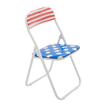 'Blow' Folding Chair - Metal - Popcorn