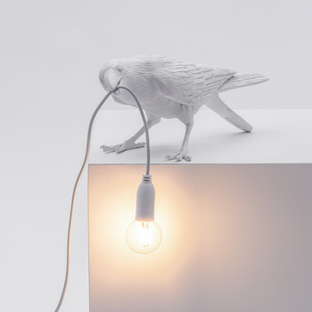 Bird Outside Lamp - Playing - White