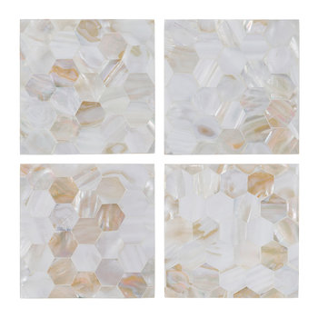 Mother of Pearl Coasters - Set of 4