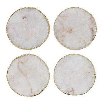 Agate Coasters - Set of 4 - White