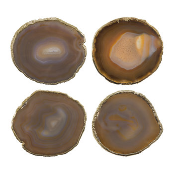 Dessous-de-verre Agate - Lot de 4 - Marron