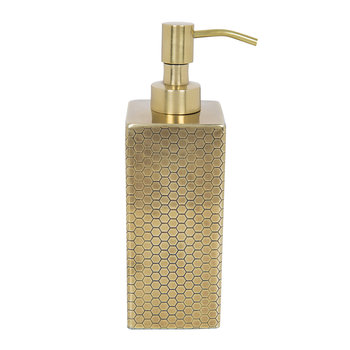 Antique Gold Honeycomb Soap Dispenser