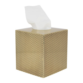Antique Gold Honeycomb Tissue Box