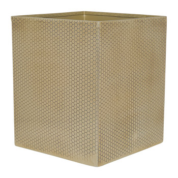 Antique Gold Honeycomb Waste Bin