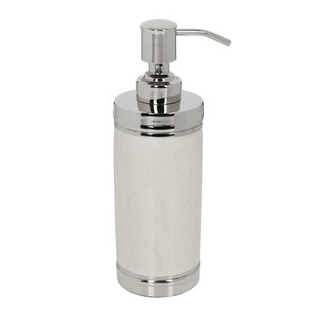 Ivory & Nickel Soap Dispenser