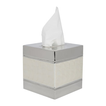Ivory & Nickel Tissue Box