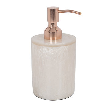 Marbled Resin Soap Dispenser - Ivory