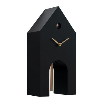 Campanile Cuckoo Clock - Black/Gold