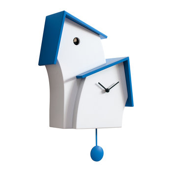 Jazz Time Cuckoo Clock - White/Light Blue