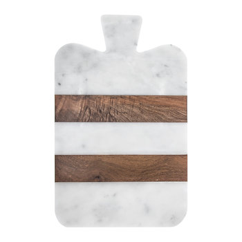 Marble & Wood Striped Serving Board - Wide