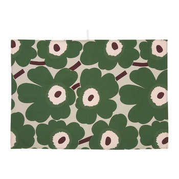 Pieni Unikko Tea Towels - Set of 2 - Beige/Green/Peach