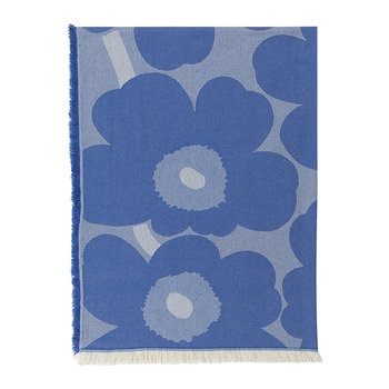Unikko Blanket - Blue/Off White
