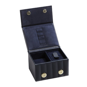 Cooper Travel Watch and Cuff Link Box - Navy