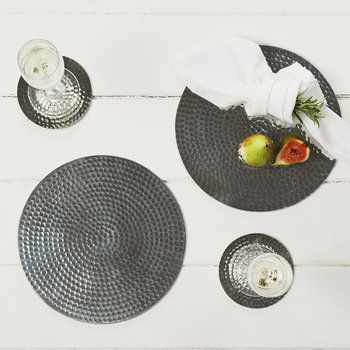 Sets de Table Acier Martelés Plats - Lot de 2