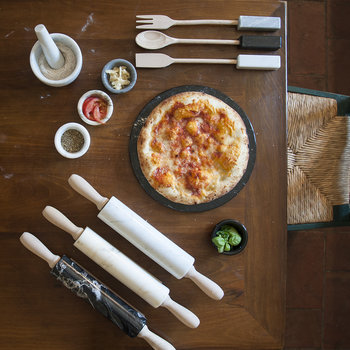 Marble Rolling Pin - White