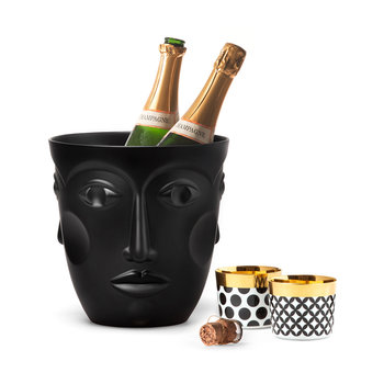Faces Champagne Cooler - Satin Black