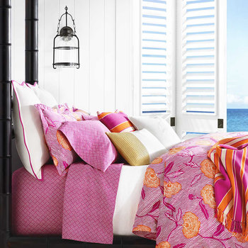 Marigot Bay Pillowcase - 50x75cm - Hellene Pink