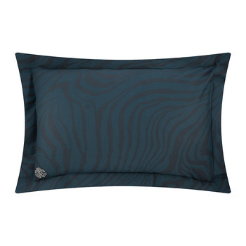 Macro Zebrage Bed Set - Blue