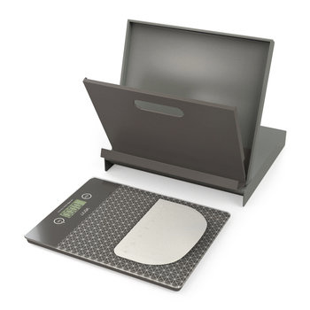 Cookbook Stand & Scales Set - Grey