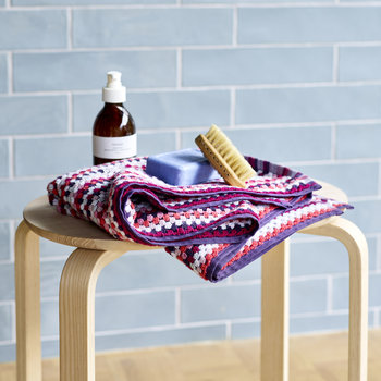 Carnaby Stripe Towel - Berry - Hand