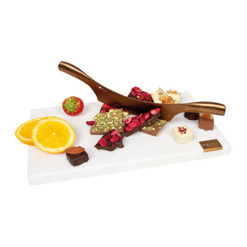 Marble Chocolate Chopping Board & Knife