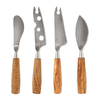 Oslo Oak Mini Cheese Knives - Set of 4