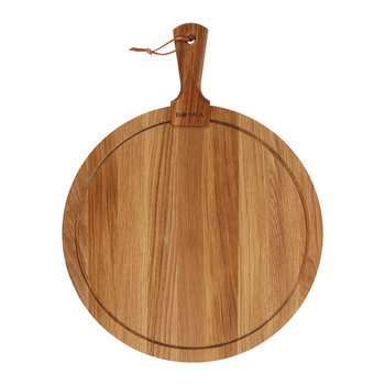 Round Oak Serving Board