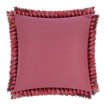 Jacaranda Tassel Edged Cushion - 45x45cm - White