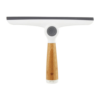 Pivoting Squeegee - White/Bamboo