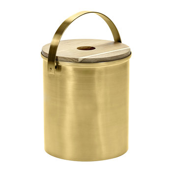 Brushed Steel Gold Ice Bucket