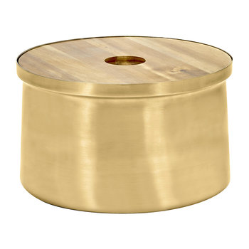 XL Brushed Steel Ice Bucket - Gold