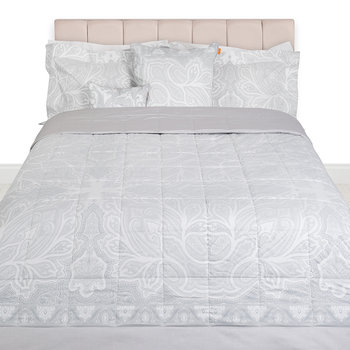 Gatsby Quilted Bedspread - 270x270cm - Grey