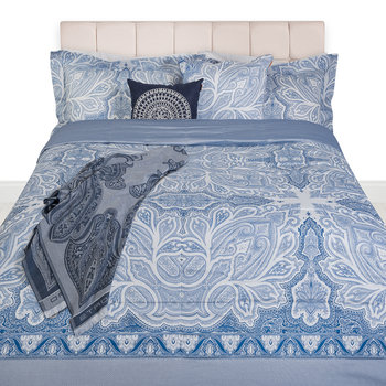 Smithtown Paisley Throw - 150x180cm - Blue