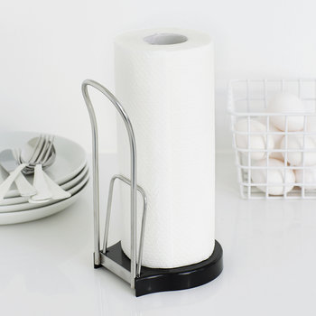 Freestanding Kitchen Roll Holder - Brilliant Steel