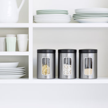 Window Canisters - Set of 3 - Matt Steel