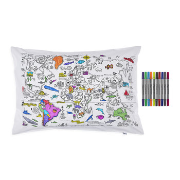 World Map Pillowcase - 75x50cm