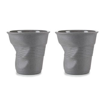 Gray Crumple Cups Gift Box - Set of 2