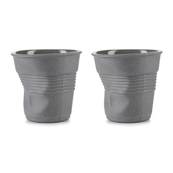 Grey Crumple Cups Gift Box - Set of 2