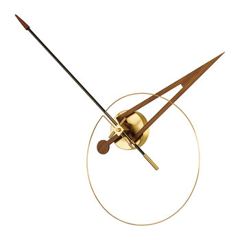 Cris Wall Clock - Gold/Walnut