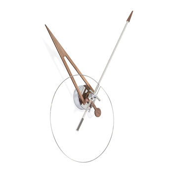 Cris Wall Clock - White/Walnut
