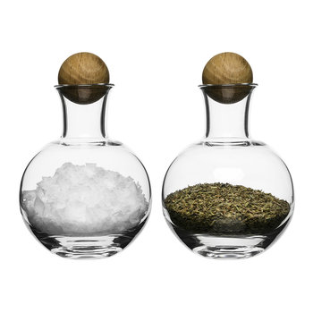 Nature Blown Glass Salt & Pepper Set