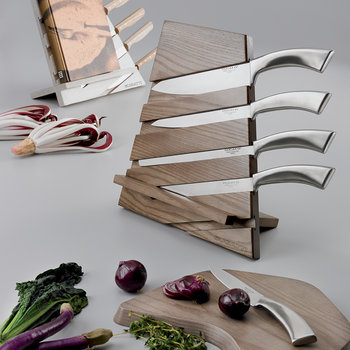 Trattoria Multi-functional Knife Block - Tobacco