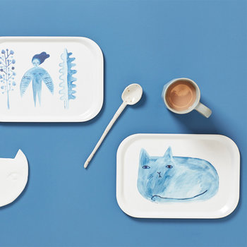 Cat Mini Tray - Blue