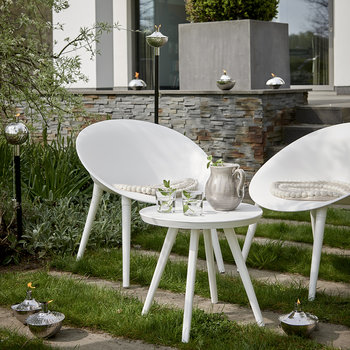 Marbella Table and Chairs Set - White