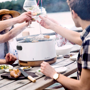 Portable Table Top BBQ - White