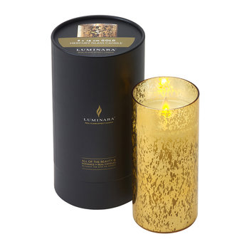 Mercury Glass LED Candle - Gold