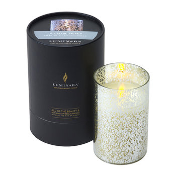Mercury Glass LED Candle - Silver